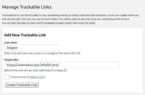 Trackable Links