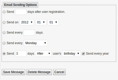 Send Emails Based on User Events