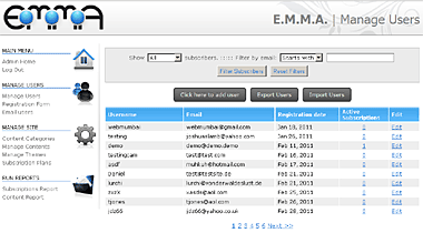 E.M.M.A. Screenshot