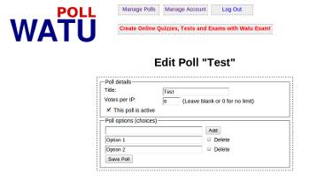 Watu Poll Screenshot